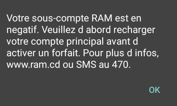RAM, «c'est un problème technique» (PT-NTIC)