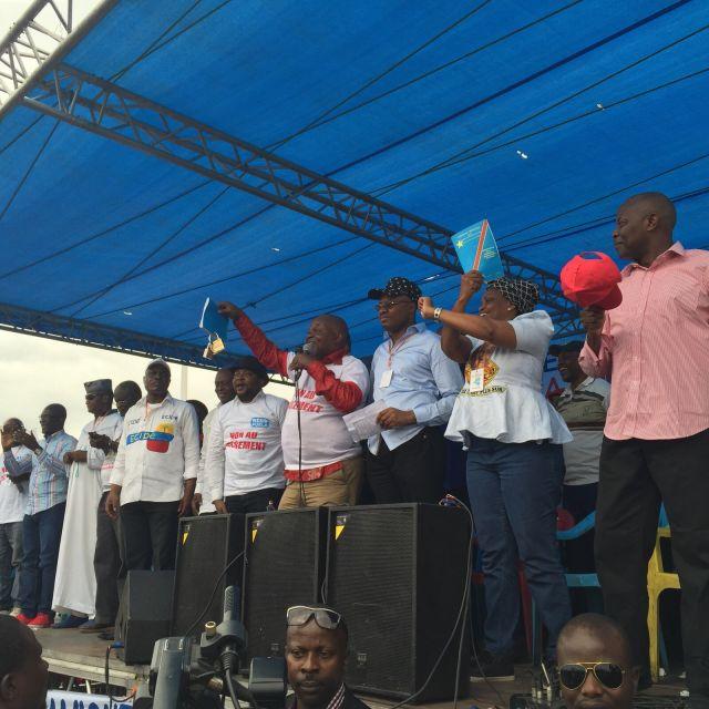 La dynamique de l'opposition a tenu son meeting à la place Ste Thérèse de Ndjili